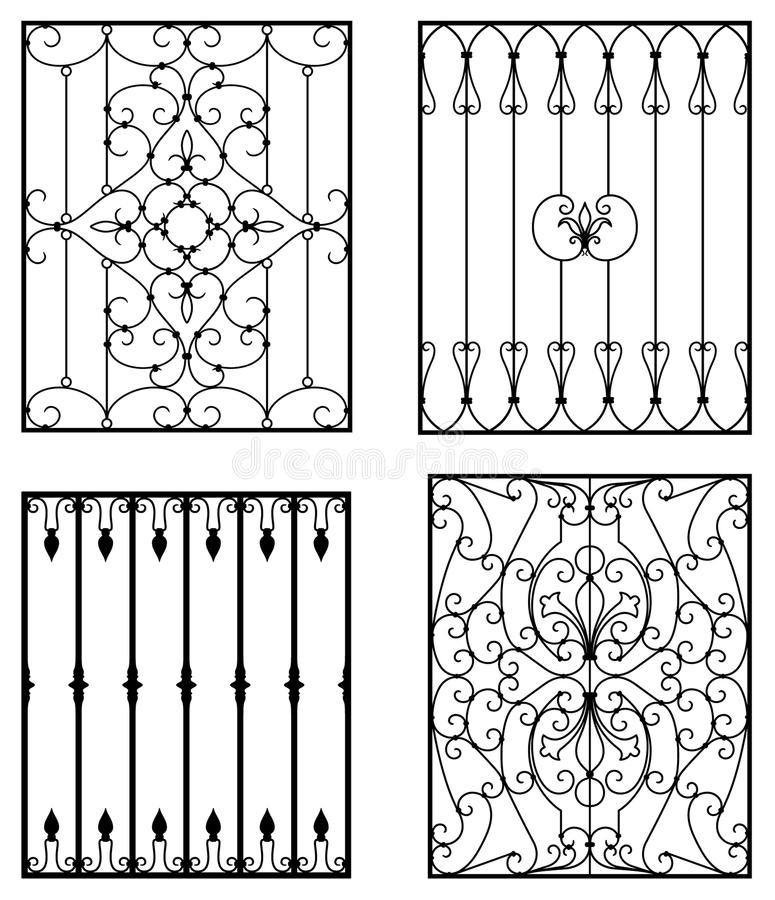 Download Wrought iron stock vector. Image of entrance, spiral - 12877210