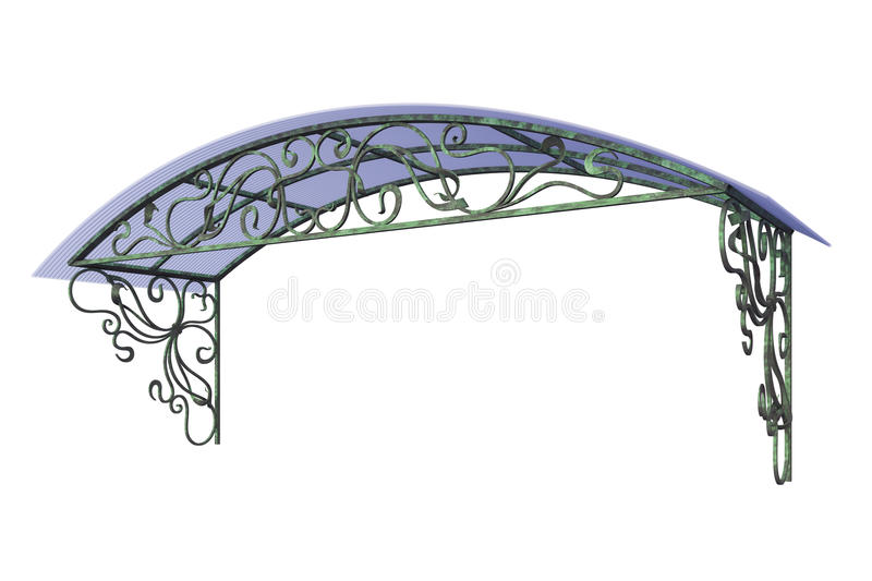 Download Wrought iron canopy stock photo. Illustration of metal - 29024140  sc 1 st  Dreamstime.com & Wrought iron canopy stock photo. Illustration of metal - 29024140