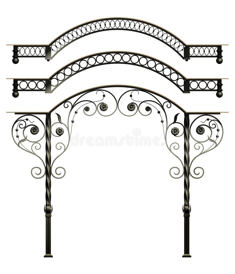 Wrought iron canopy royalty free stock photo image