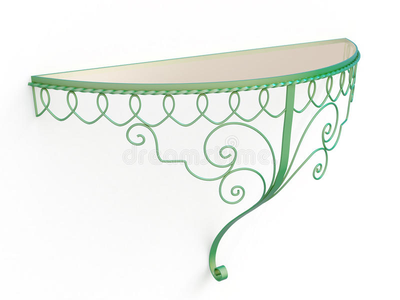 Download Wrought iron console table stock photo. Image of indoor - 29967954