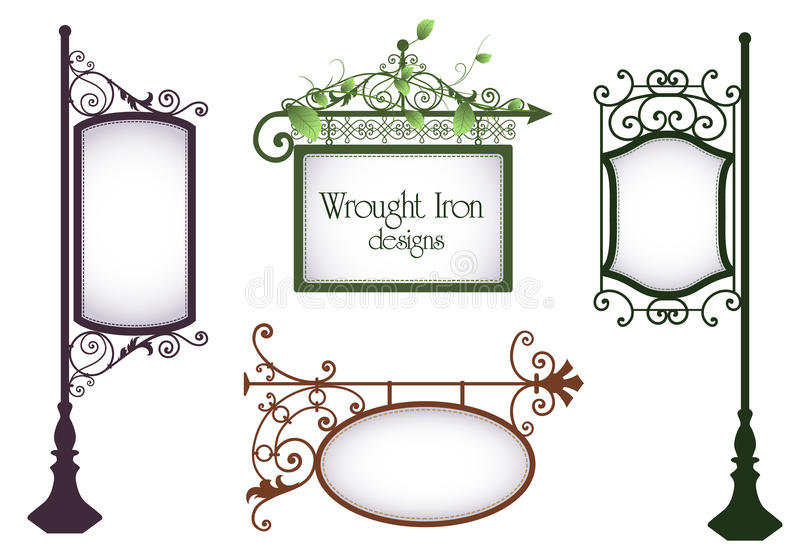 Wrought iron designs stock illustration