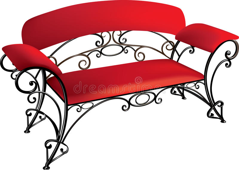 Download Wrought-iron furniture stock vector. Image of wrought - 24423508