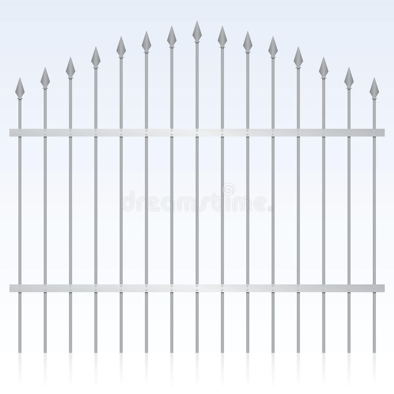 Wrought Iron Gate. Vector illustration of an iron gate stock illustration