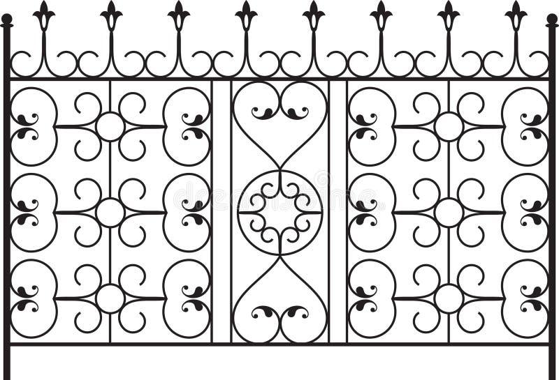 Wrought Iron Gate. Door Design vector illustration