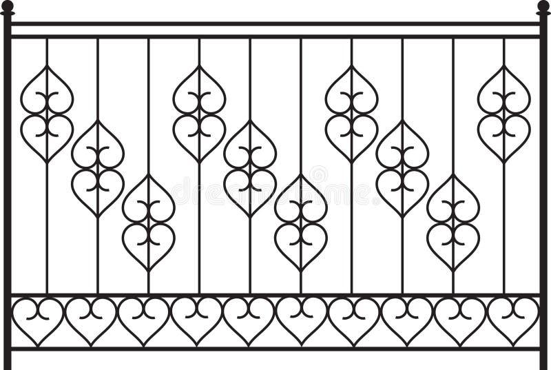 Wrought Iron Gate. Door Design stock illustration