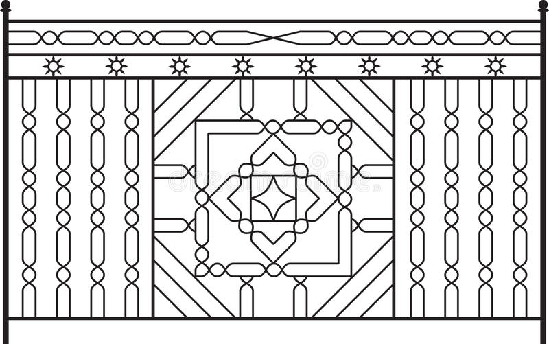 Wrought Iron Gate. Door Design royalty free illustration