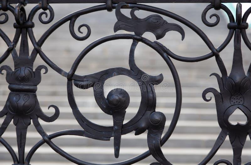 Wrought-iron gates royalty free stock image