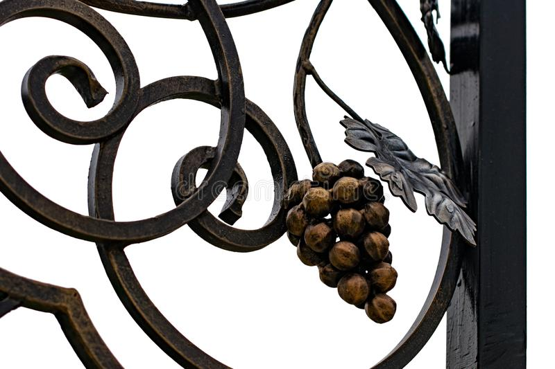 wrought-iron gates, ornamental forging, forged elements close-up royalty free stock photos