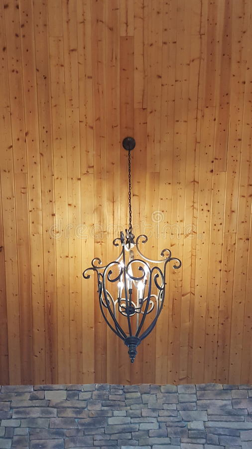 Wrought Iron Pendant Lighting royalty free stock images