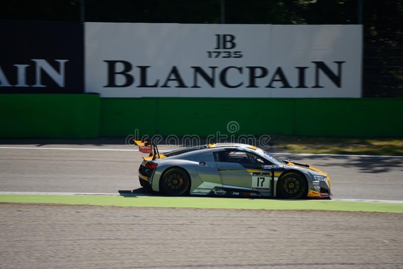 WRT Audi R8 LMS di Audi Club Team del belga a Monza immagine stock libera da diritti