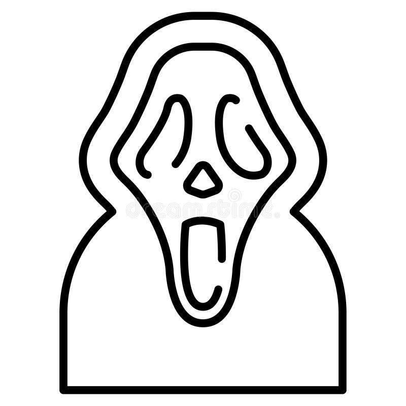 Wrzask Kreskowa ilustracja ilustracja wektor