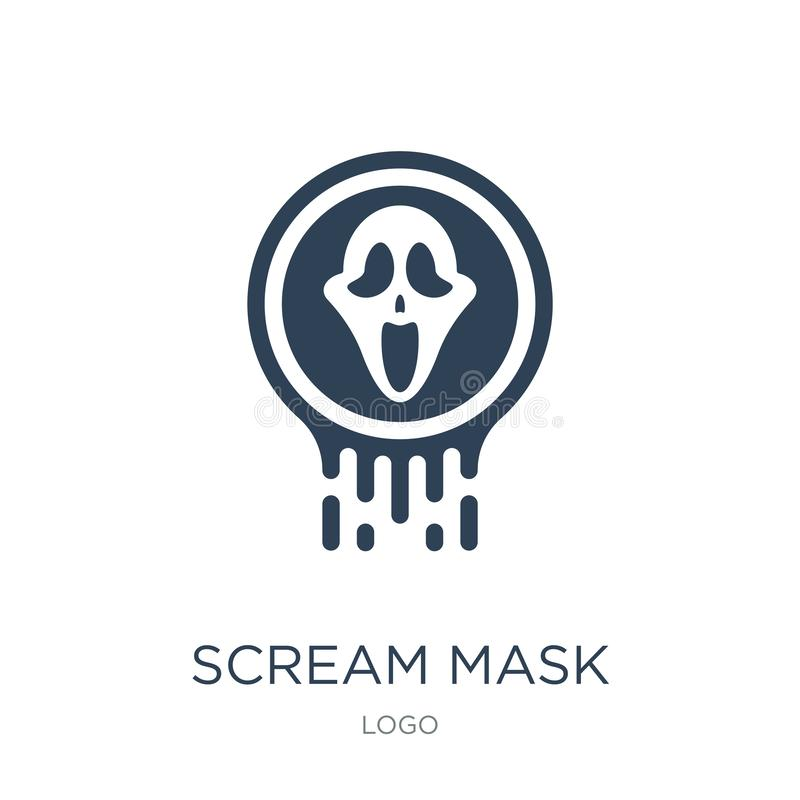 wrzask maskowa ikona w modnym projekta stylu wrzask maskowa ikona odizolowywająca na białym tle wrzask maskowa wektorowa ikona pr royalty ilustracja