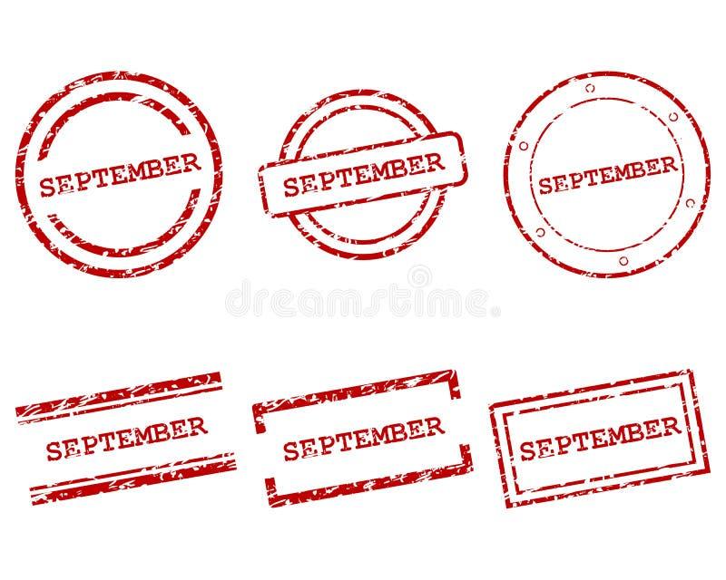 Wrześni znaczki ilustracja wektor