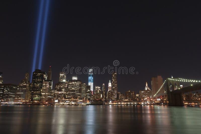Wrzesień 11 Uznania światła Obrazy Royalty Free