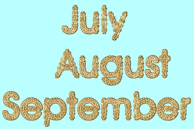 Wrzesień august. royalty ilustracja