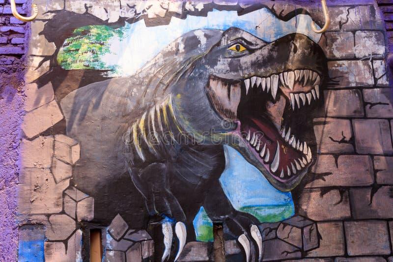 Wrzesień 2018 Street Art w Kampung Warna Warni Jodipan Malang, Indonezja obraz stock