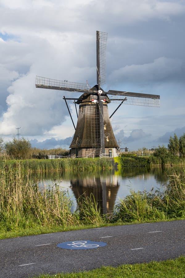 Wrzesień 29th, 2017: Tradycyjny holenderski wiatraczek zdjęcie stock