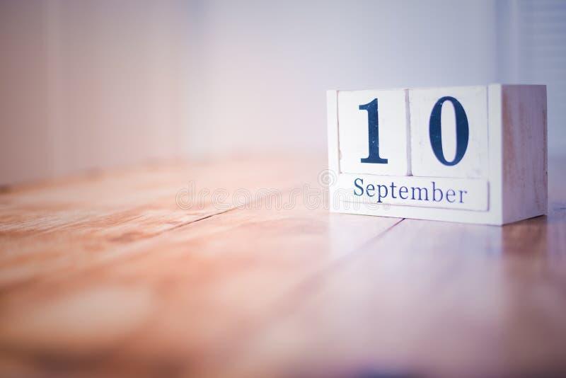 10 Wrzesień wszystkiego najlepszego z okazji urodzin rocznica - 10th Wrzesień - święto państwowe - fotografia stock