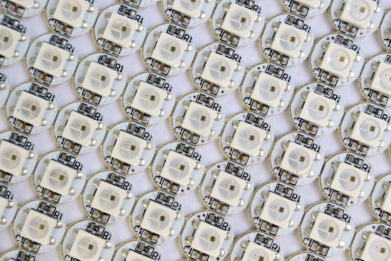 Ws2812b led diods matrix royalty free stock image