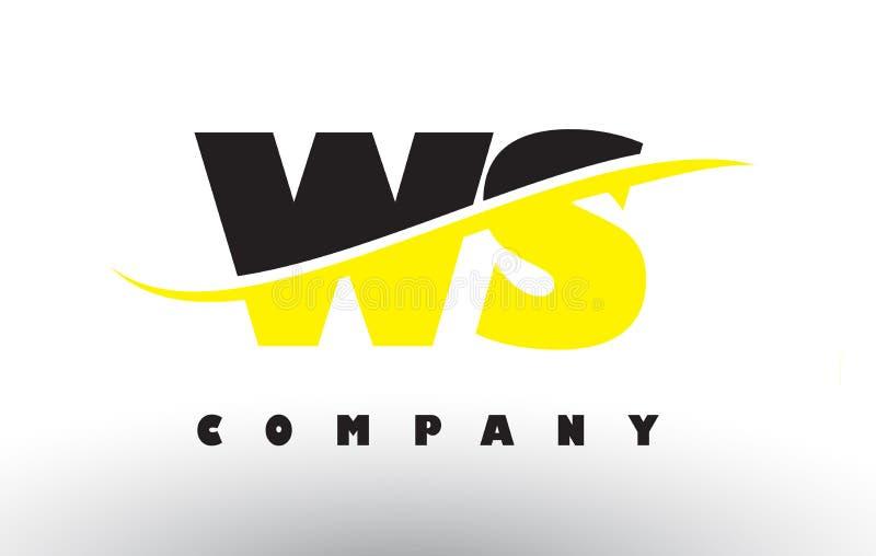 ws w与swoosh的s黑和黄色信件商标图片
