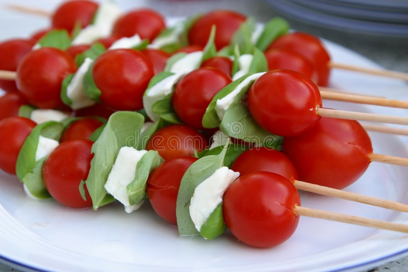 wsadź tomatoe mozzarella fotografia stock
