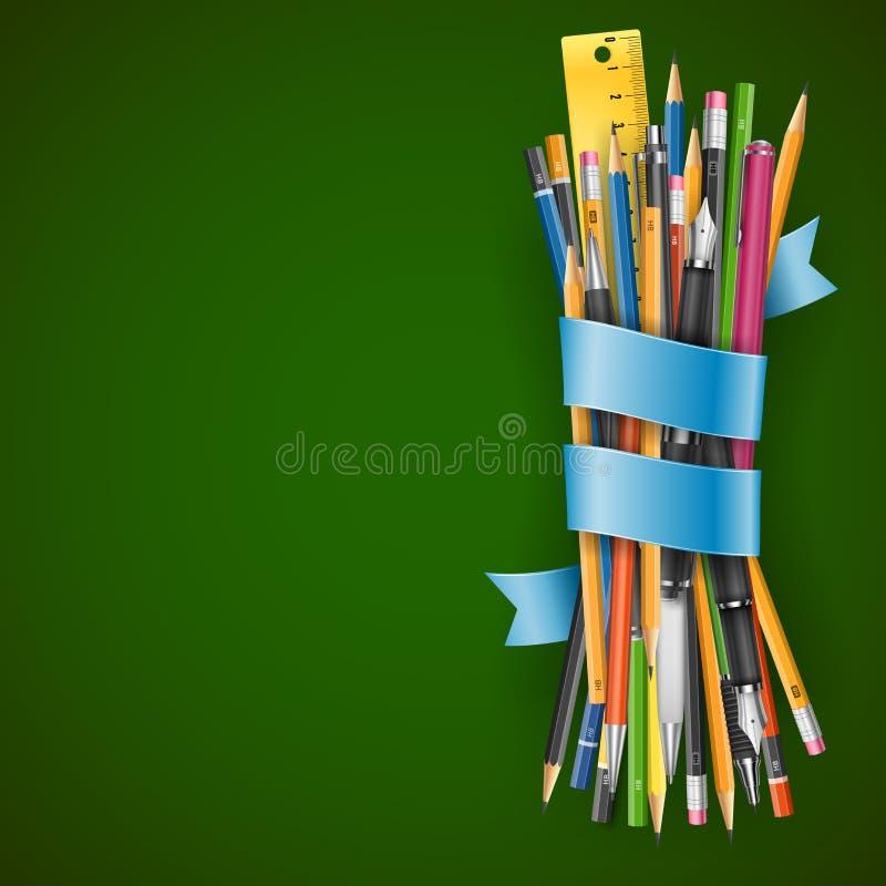 Wsad ołówki royalty ilustracja