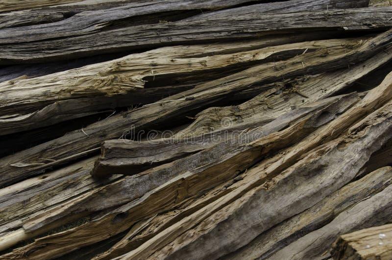 Wsad stary odszczepiający drewno zdjęcia stock