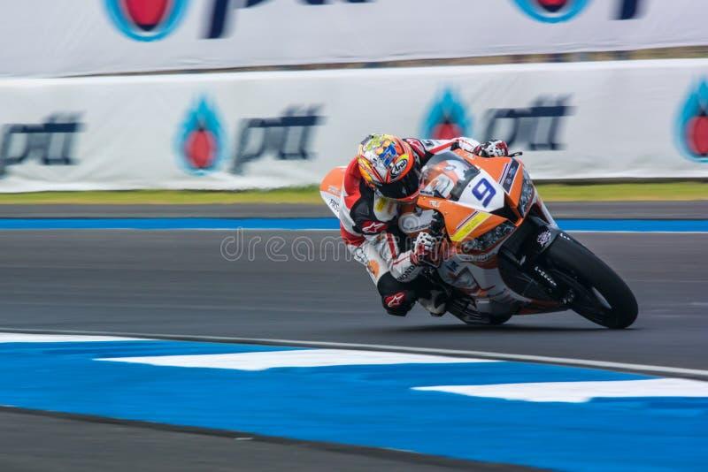 WSBK2015 - Round2 - Chang International Circuits, Buriram, Tailândia imagem de stock