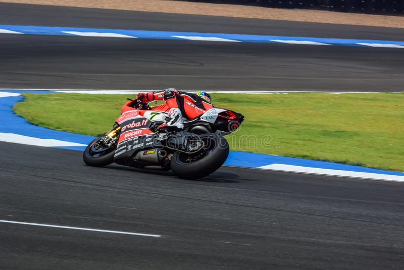 WSBK2015 - Round2 - Chang International Circuits, Buriram, Tailândia imagens de stock