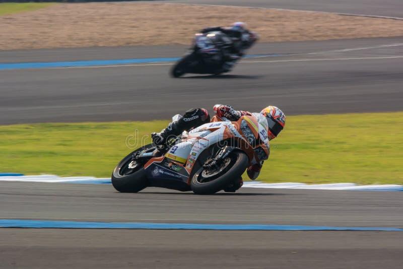 WSBK2015 - Round2 - Chang International Circuits, Buriram, Tailândia fotos de stock royalty free