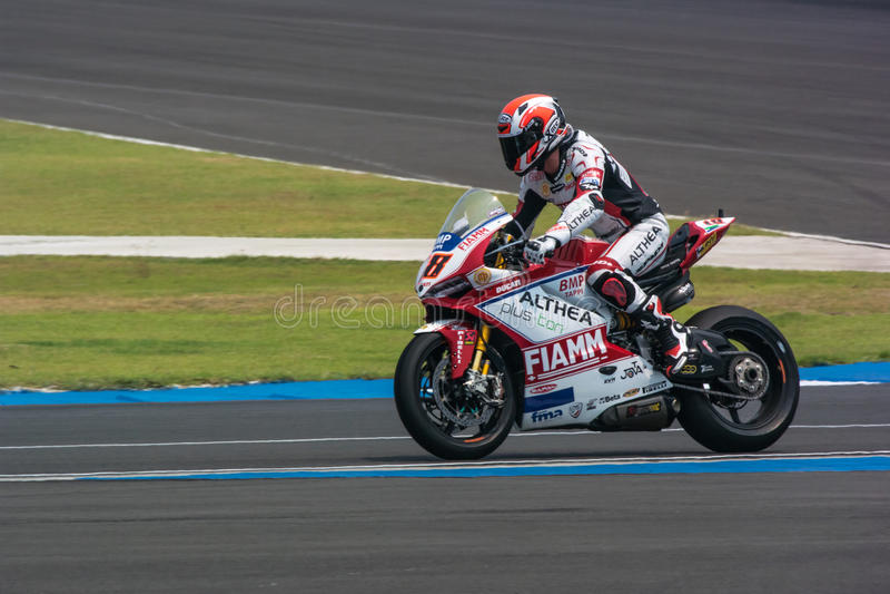 WSBK2015 - Round2 - Chang International Circuits, Buriram, Tailandia immagini stock libere da diritti