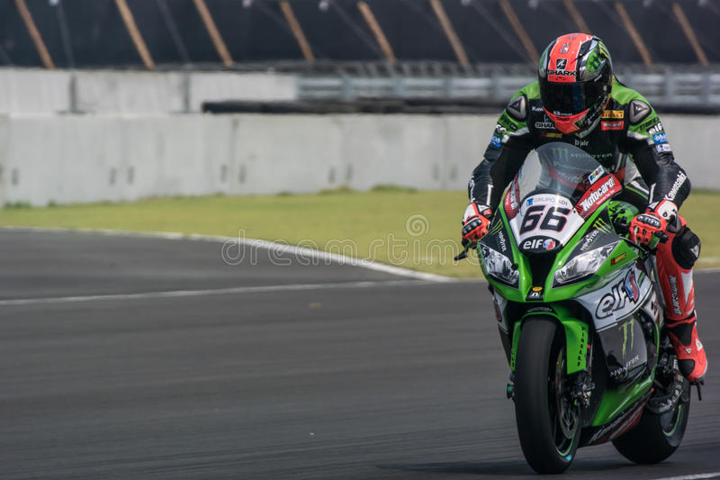 WSBK2015 - Round2 - Chang International Circuits, Buriram, Thailand royaltyfria foton