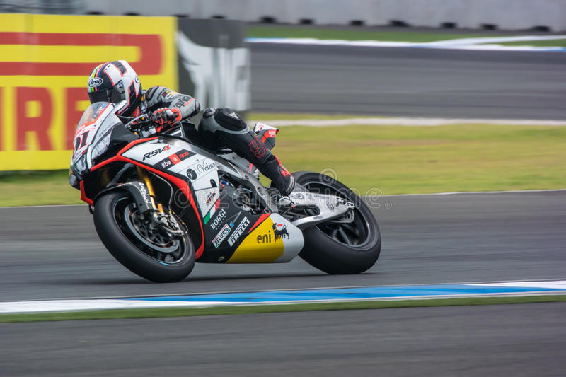 WSBK2015 - Round2 - Chang International Circuits, Buriram, Thailand arkivfoton