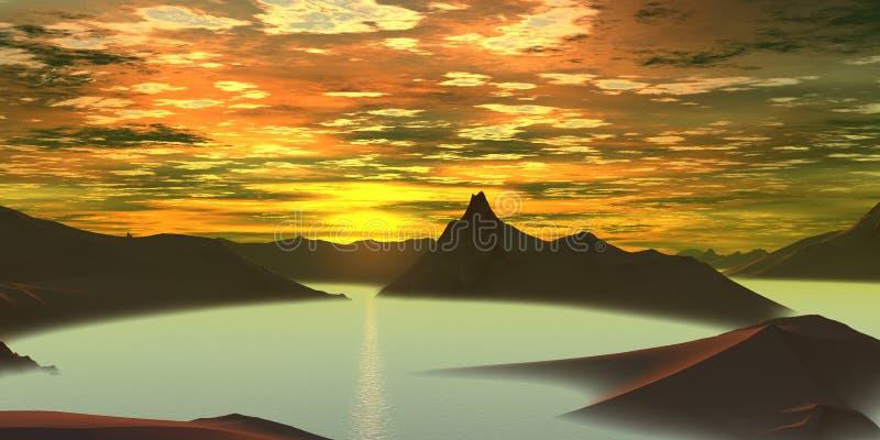 wschód słońca ilustracja wektor