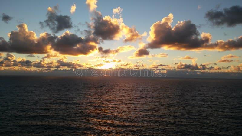 Wschód słońca, Australia, Byron zatoka momenty fotografia stock