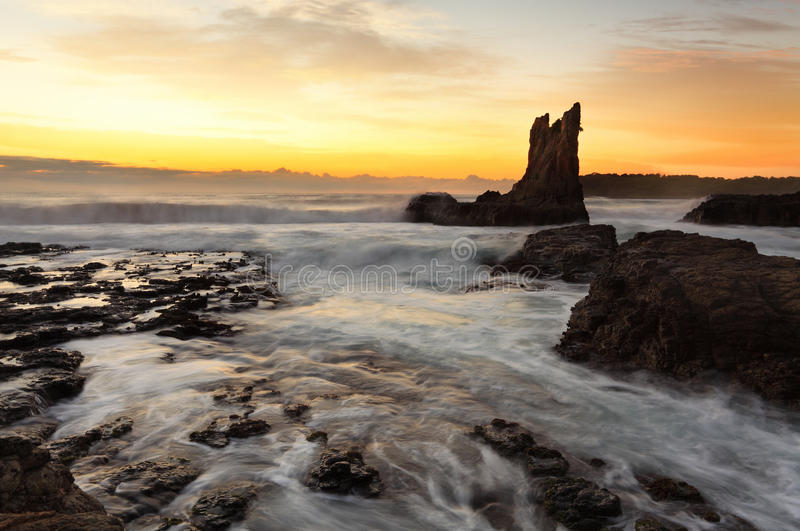 Wschód słońca katedry skała, południowe wybrzeże, Australia obrazy royalty free