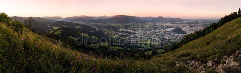 Wschód słońca na Gaisberg w Salzburg, Austria obraz royalty free