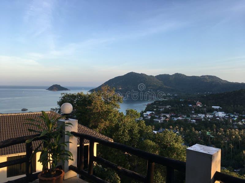 Wschód słońca na Koh Tao obrazy royalty free