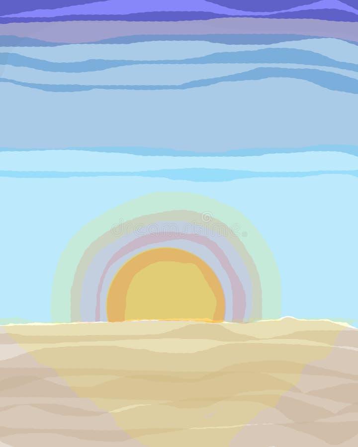 Wschód słońca na niebieskim niebie zdjęcia royalty free