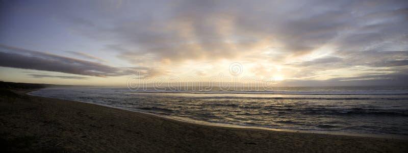 Wschód słońca na ocean indyjski fotografia royalty free