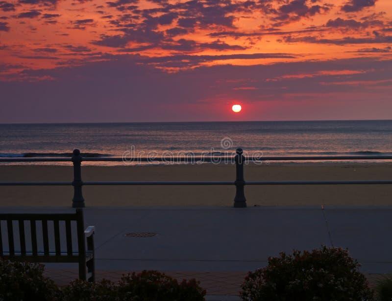 wschód słońca na plaży Virginia obraz stock