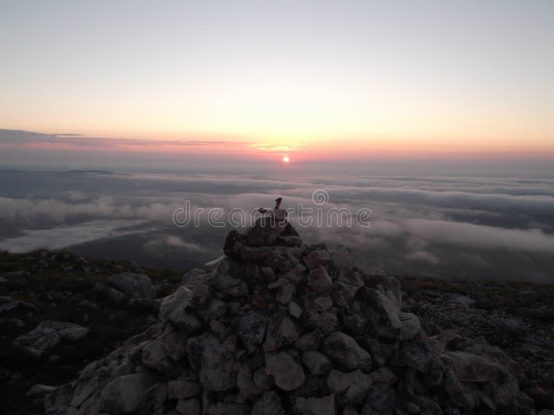 Wschód słońca na Savin Kuk szczycie zdjęcia stock