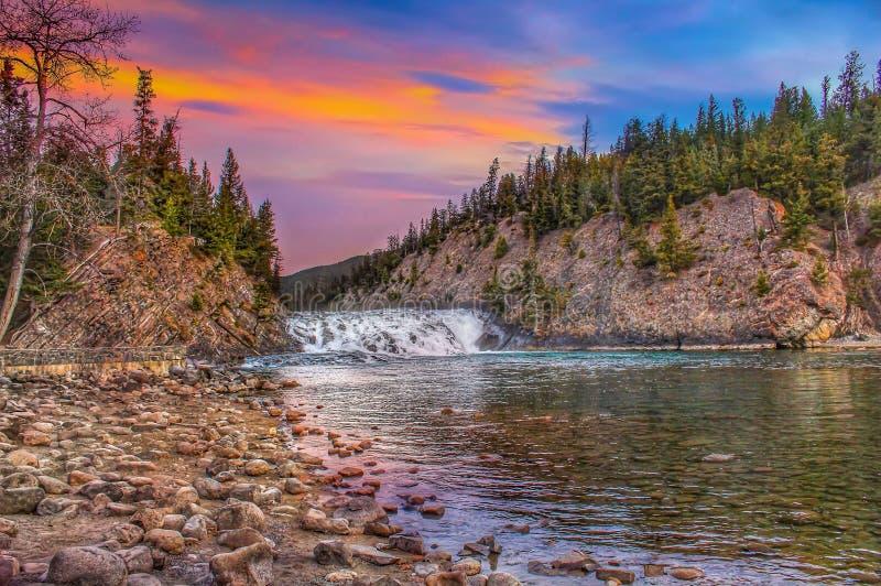Wschód słońca Nad łęków spadkami zdjęcie stock