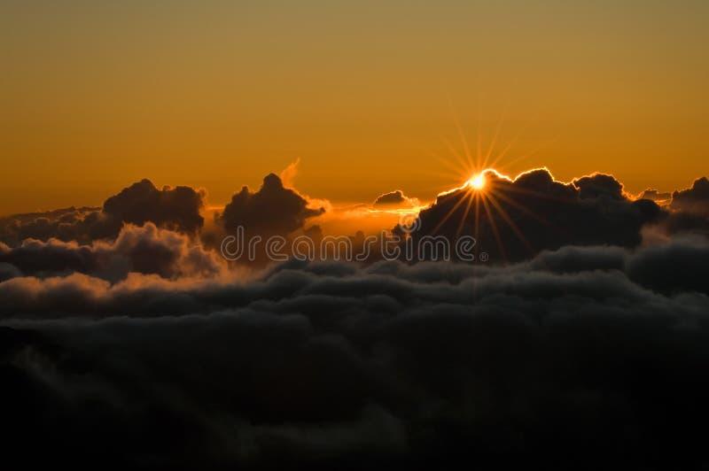wschód słońca nad chmury fotografia royalty free