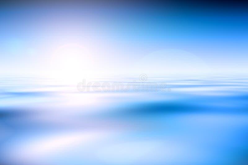 wschód słońca nad ocean ilustracji