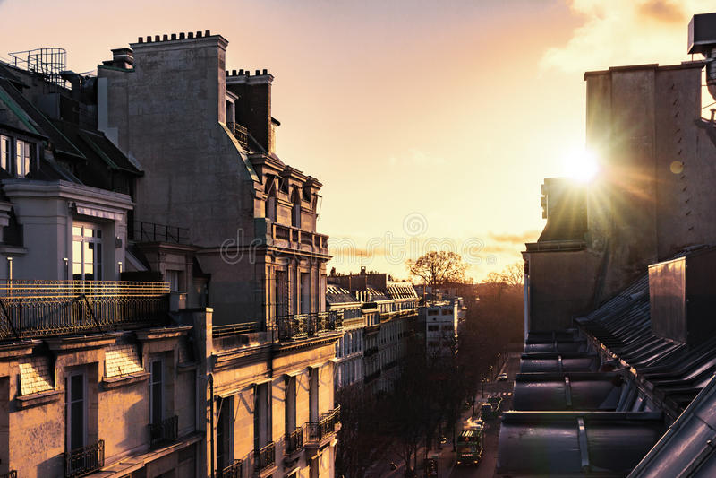 Wschód słońca nad Paryż obrazy stock
