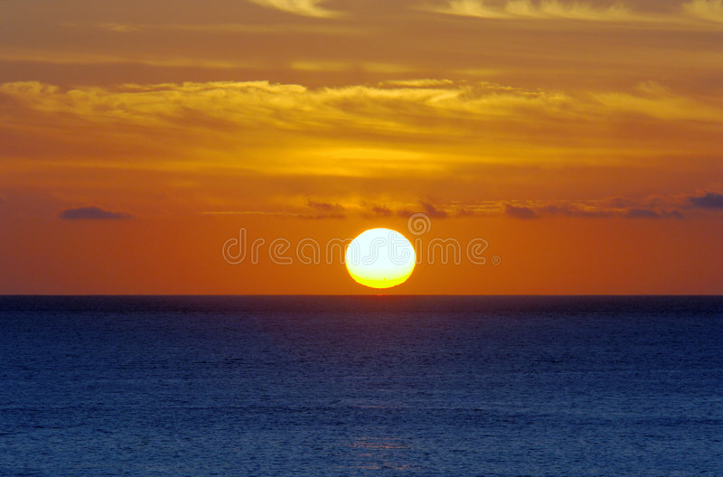 wschód słońca oceanu obrazy royalty free
