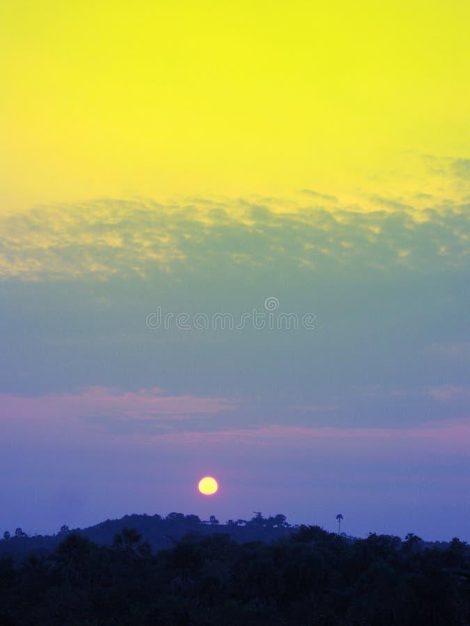 wschód słońca pastelowy fotografia royalty free
