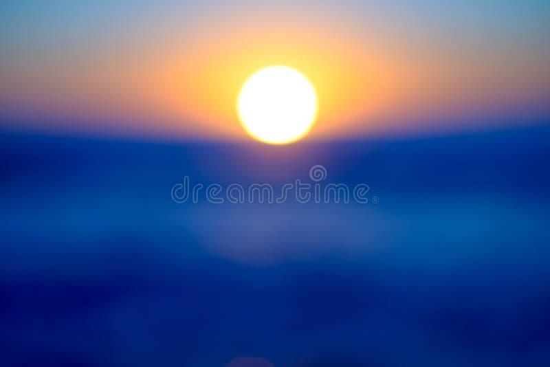 Wschód słońca plama fotografia stock