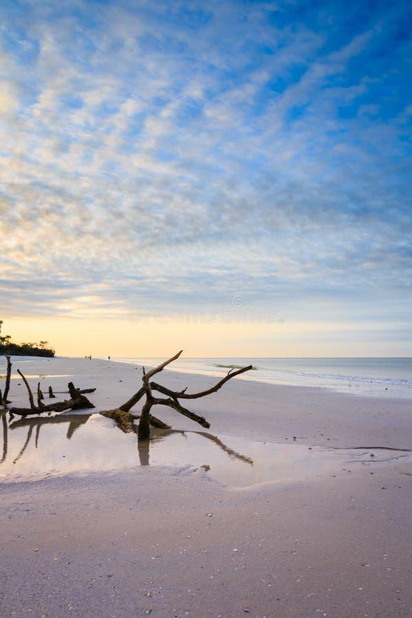 Wschód słońca przy fortu Myers plażą zdjęcia stock